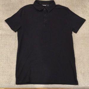 Apt. 9 Black Short Sleeve Polo Shirt, Size Small
